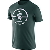 Nike Men's Michigan State Spartans Green Legend Basketball Key T-Shirt