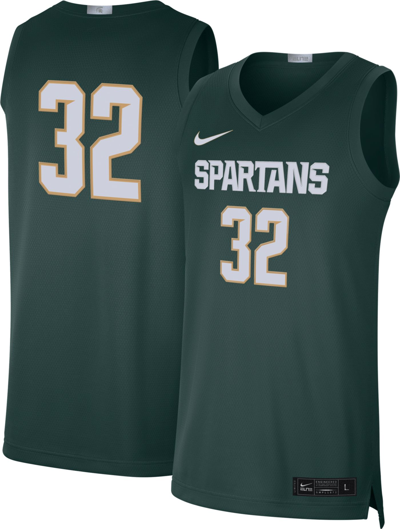 Nike Men's Michigan State Spartans #32 Green Limited Basketball Jersey