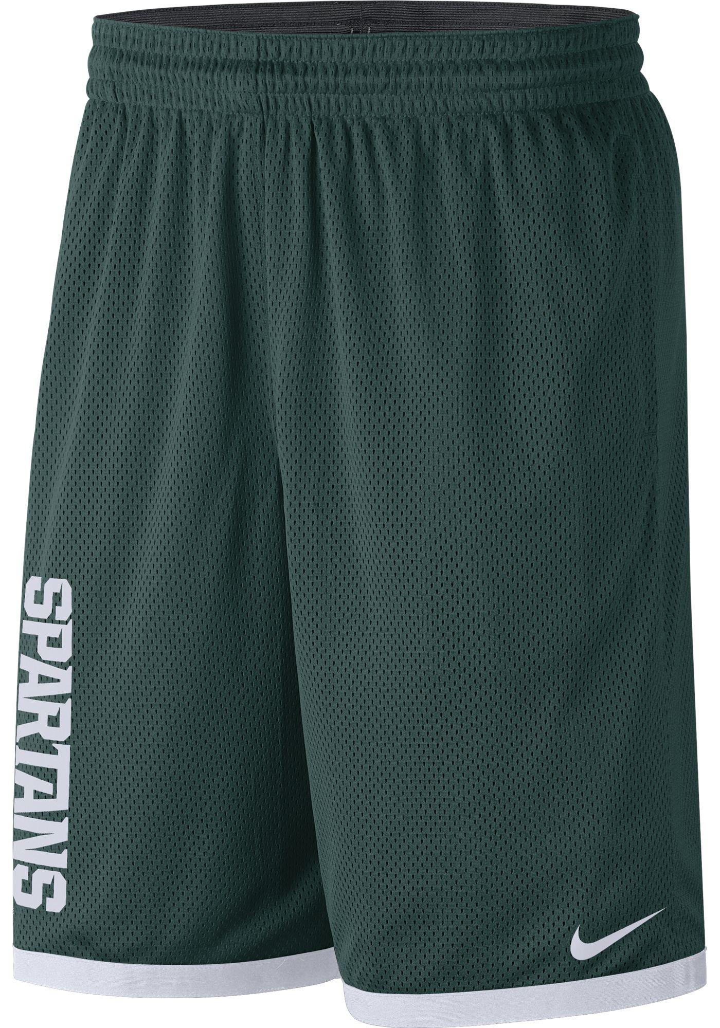 Nike Men's Michigan State Spartans Green Dri-FIT Mesh Basketball Shorts