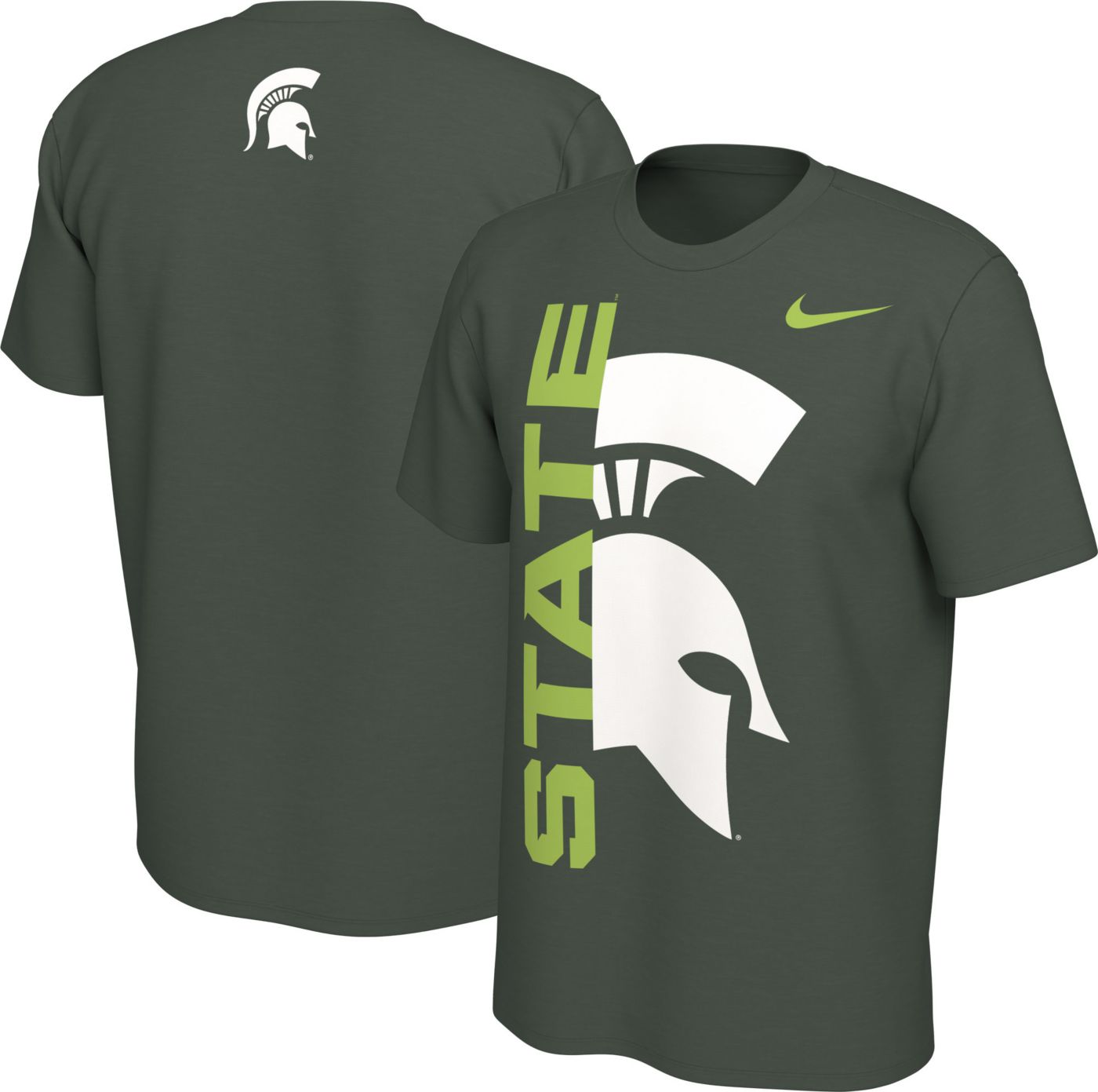 Nike Men's Michigan State Spartans Green Energy Pack Highlight T-Shirt