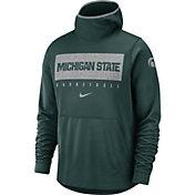 Nike Men's Michigan State Spartans Green Spotlight Pullover Basketball Hoodie