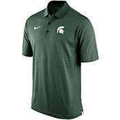 Nike Men's Michigan State Spartans Green Stadium Striped Polo
