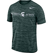 Nike Men's Michigan State Spartans Green Velocity 'Go Green, Go White' Football T-Shirt