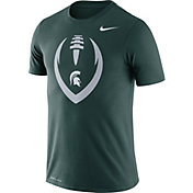 Nike Men's Michigan State Spartans Green Legend Football Icon T-Shirt