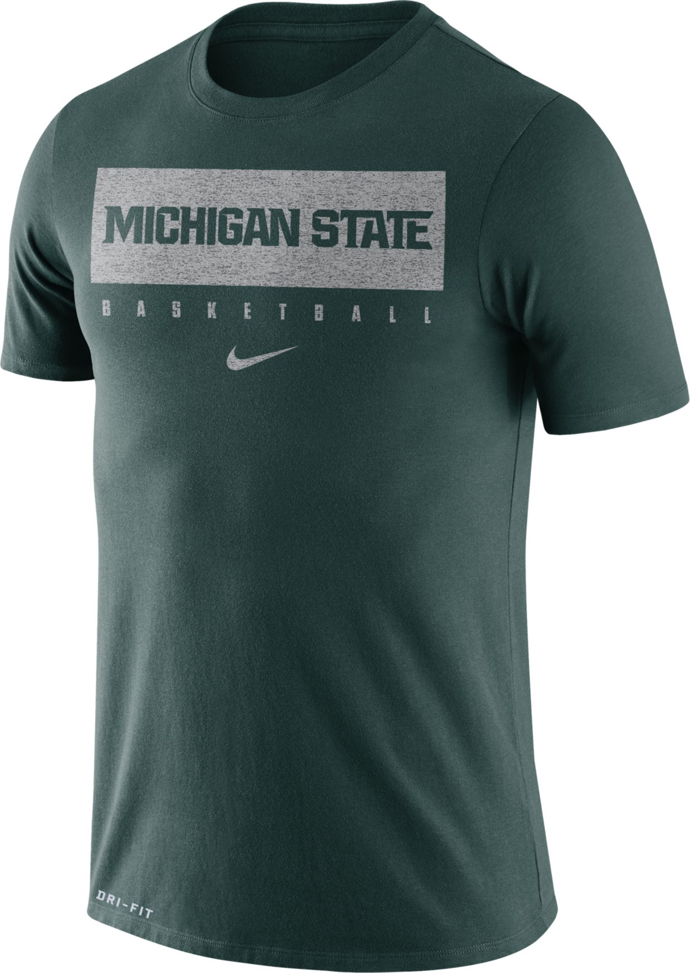 Nike Men's Michigan State Spartans Green Basketball Legend Practice T-Shirt