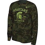 Nike Men's Michigan State Spartans Camo Veteran Long Sleeve T-Shirt