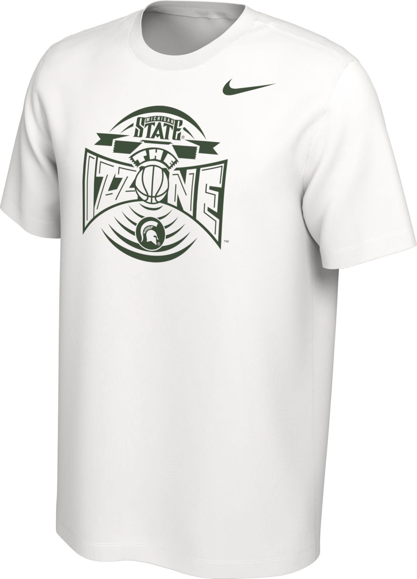 Nike Men's Michigan State Spartans 'The Izzone' Student Body Basketball White T-Shirt