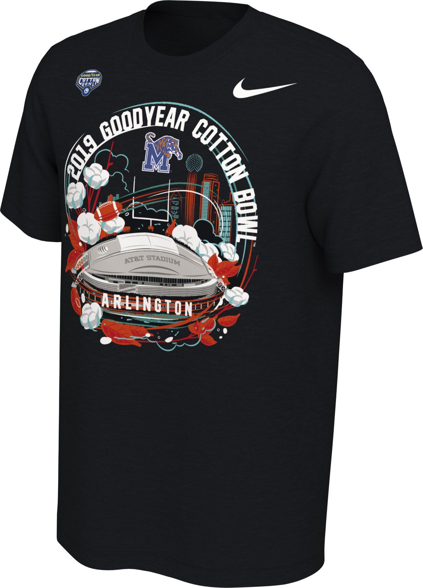 Nike Men's Memphis Tigers 2019 Goodyear Cotton Bowl Bound Stadium T-Shirt