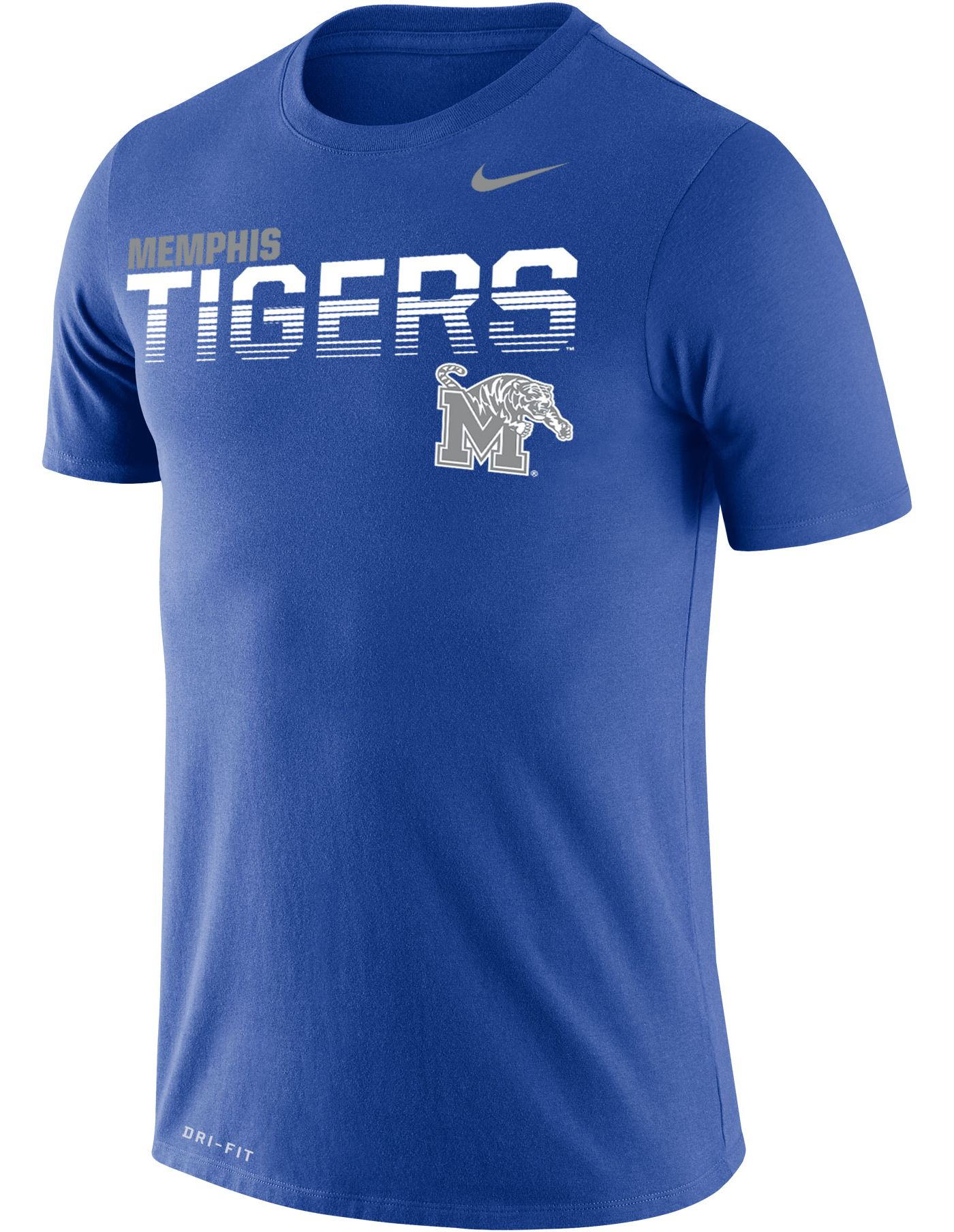 Nike Men's Memphis Tigers Blue Legend Football Sideline T-Shirt