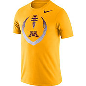 Nike Men's Minnesota Golden Gophers Gold Dri-FIT Cotton Football Icon T-Shirt