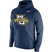 Nike Men's Marquette Golden Eagles Blue Club Fleece Pullover Hoodie