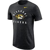 Nike Men's Missouri Tigers Marled Raglan Black T-Shirt
