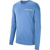 Jordan Men's North Carolina Tar Heels Carolina Blue Dri-FIT Cotton Basketball Long Sleeve T- Shirt