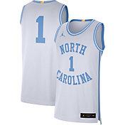 Jordan Men's North Carolina Tar Heels #1 Limited Retro Basketball White Jersey