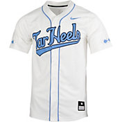 Nike Men's North Carolina Tar Heels Full Button Replica Baseball White Jersey