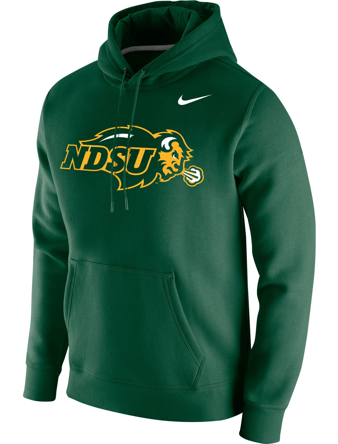 Nike Men's North Dakota State Bison Green Club Fleece Pullover Hoodie