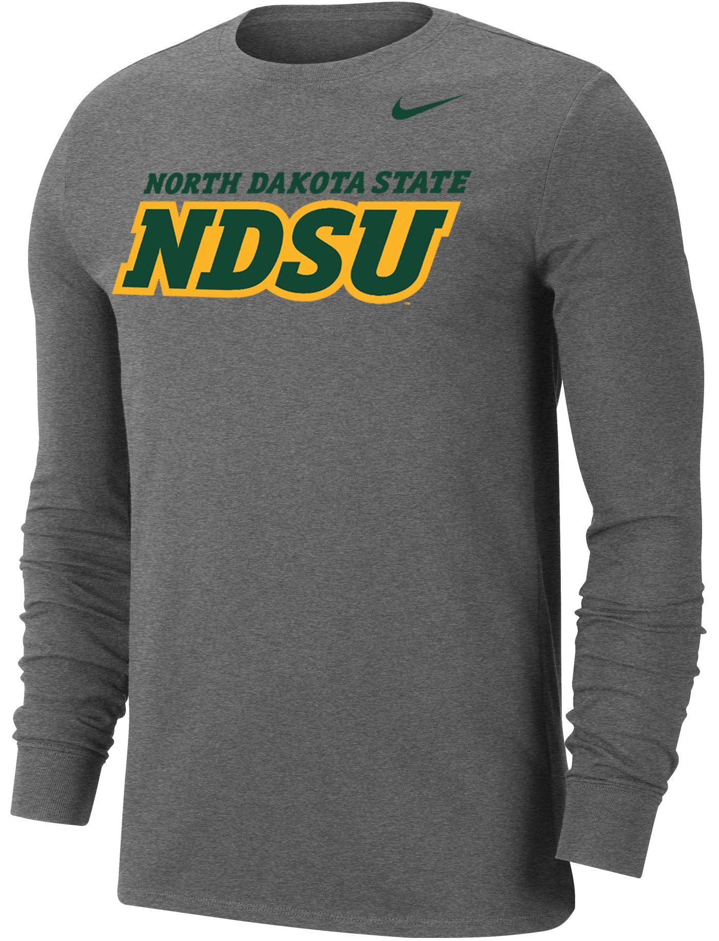 Nike Men's North Dakota State Bison Grey Wordmark Long Sleeve T-Shirt