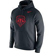 Nike Men's New Mexico Lobos Club Fleece Pullover Black Hoodie