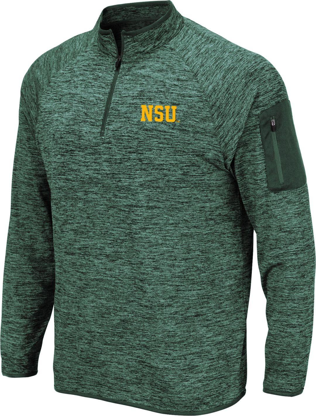 wholesale dealer 371c0 02fa0 Colosseum Men's Norfolk State Spartans Green Quarter-Zip Shirt