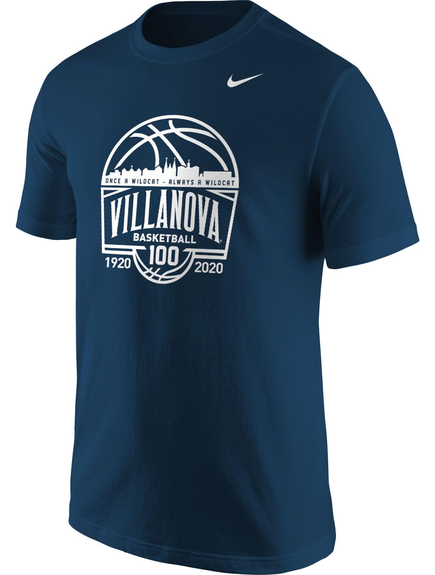 Nike Men's Villanova Wildcats Navy 100th Anniversary Basketball T-Shirt