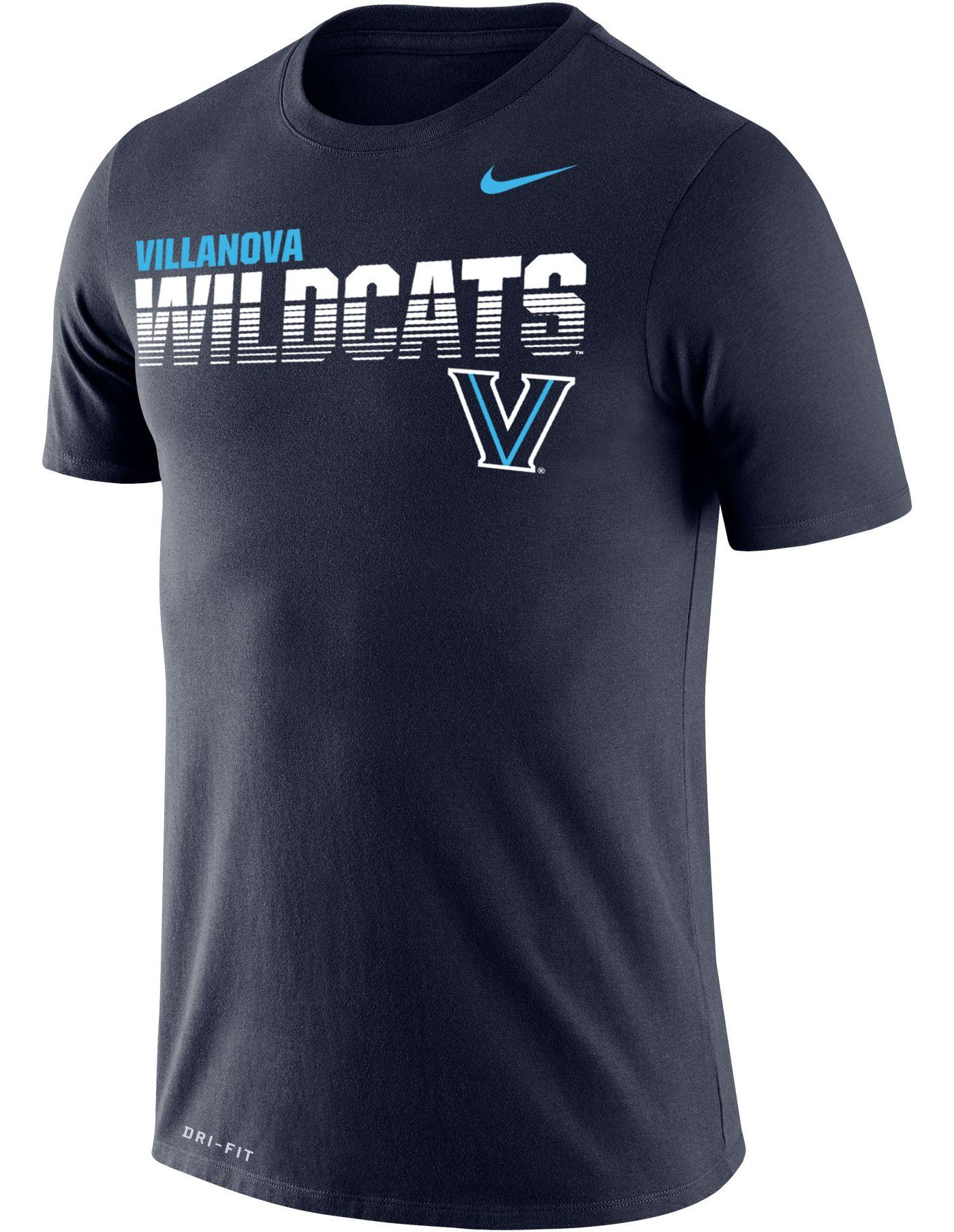 Nike Men's Villanova Wildcats Navy Legend Football Sideline T-Shirt