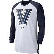 Nike Men's Villanova Wildcats White/Navy Long Sleeve Shooting Shirt