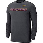 Nike Men's Northern Iowa Panthers  Grey Wordmark Long Sleeve T-Shirt