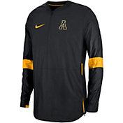 Nike Men's Appalachian State Mountaineers Lockdown Half-Zip Football Black Jacket