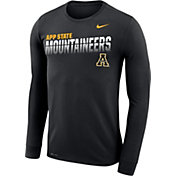 Nike Men's Appalachian State Mountaineers Legend Football Sideline Long Sleeve Black T-Shirt