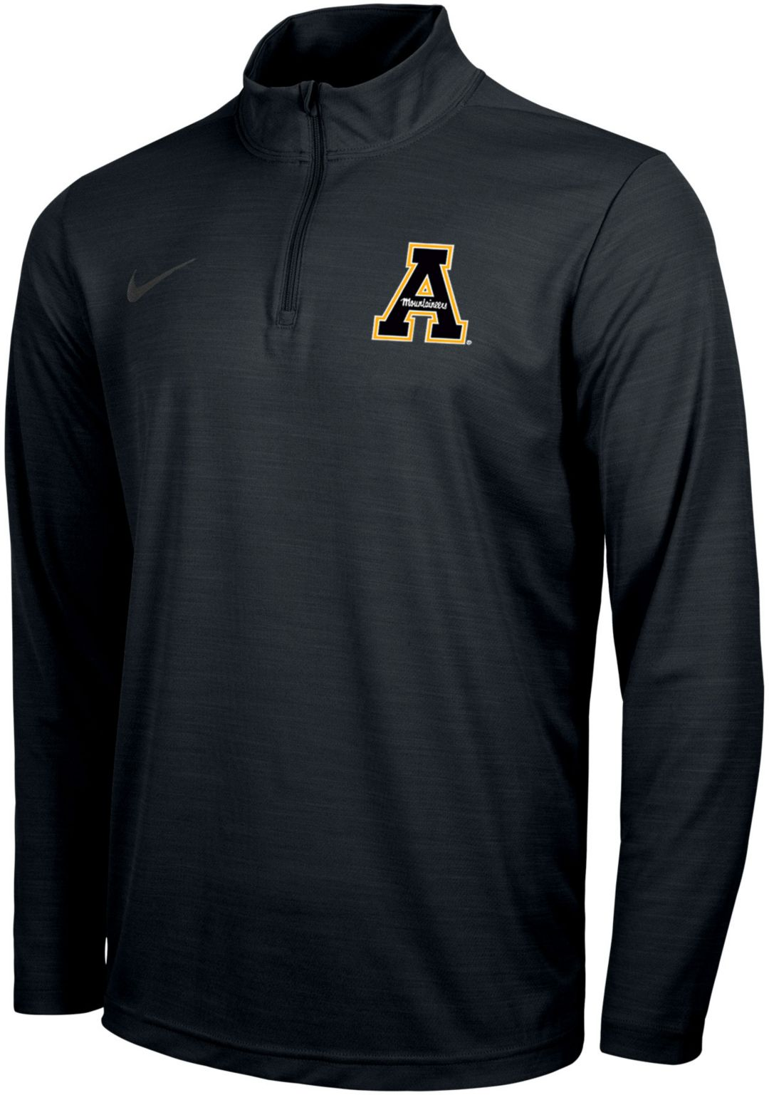 newest 6724f 2fc39 Nike Men's Appalachian State Mountaineers Intensity Quarter-Zip Black Shirt