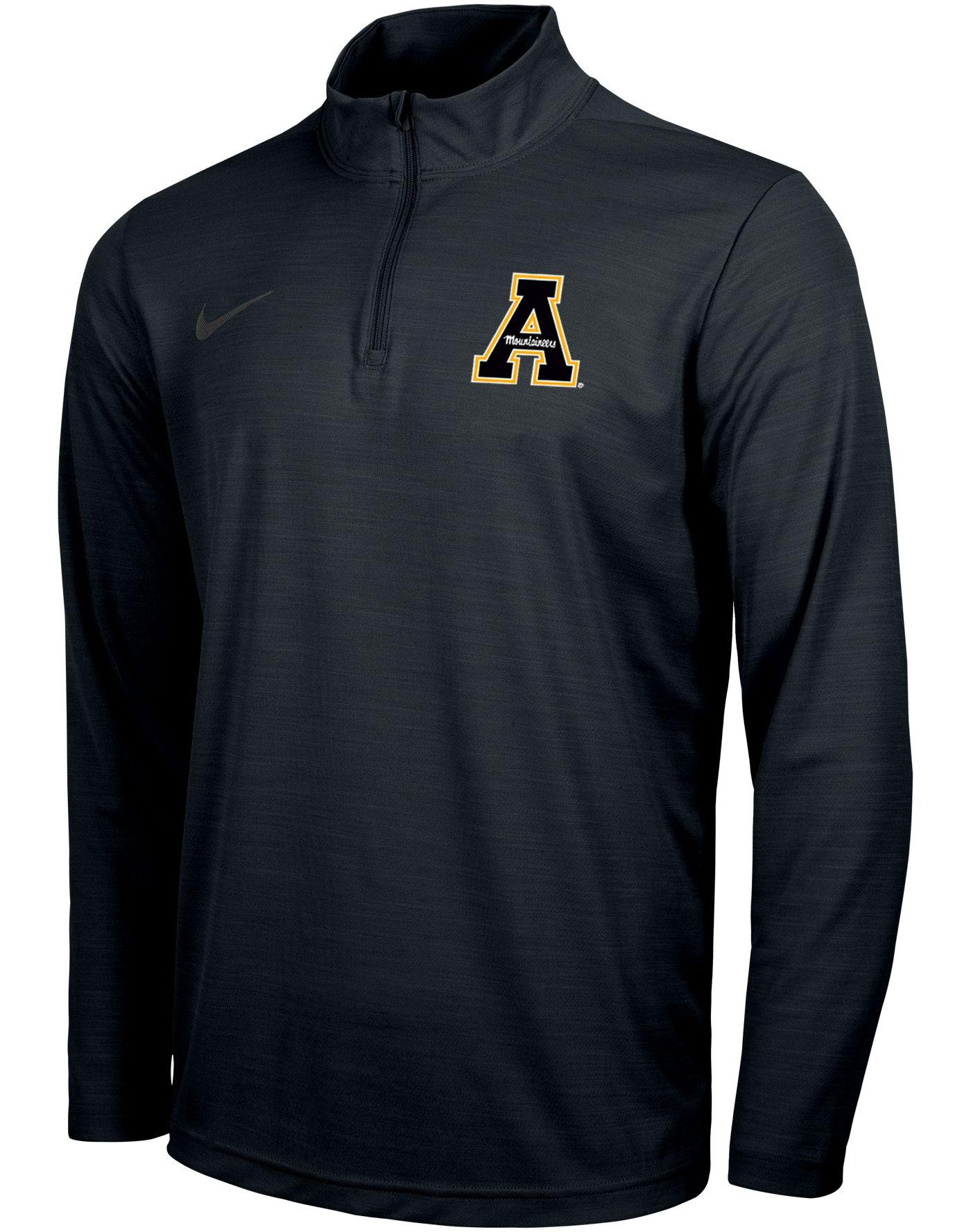 Nike Men's Appalachian State Mountaineers Intensity Quarter-Zip Black Shirt