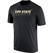Nike Men's Appalachian State Mountaineers Football Dri-FIT Cotton Facility Black T-Shirt