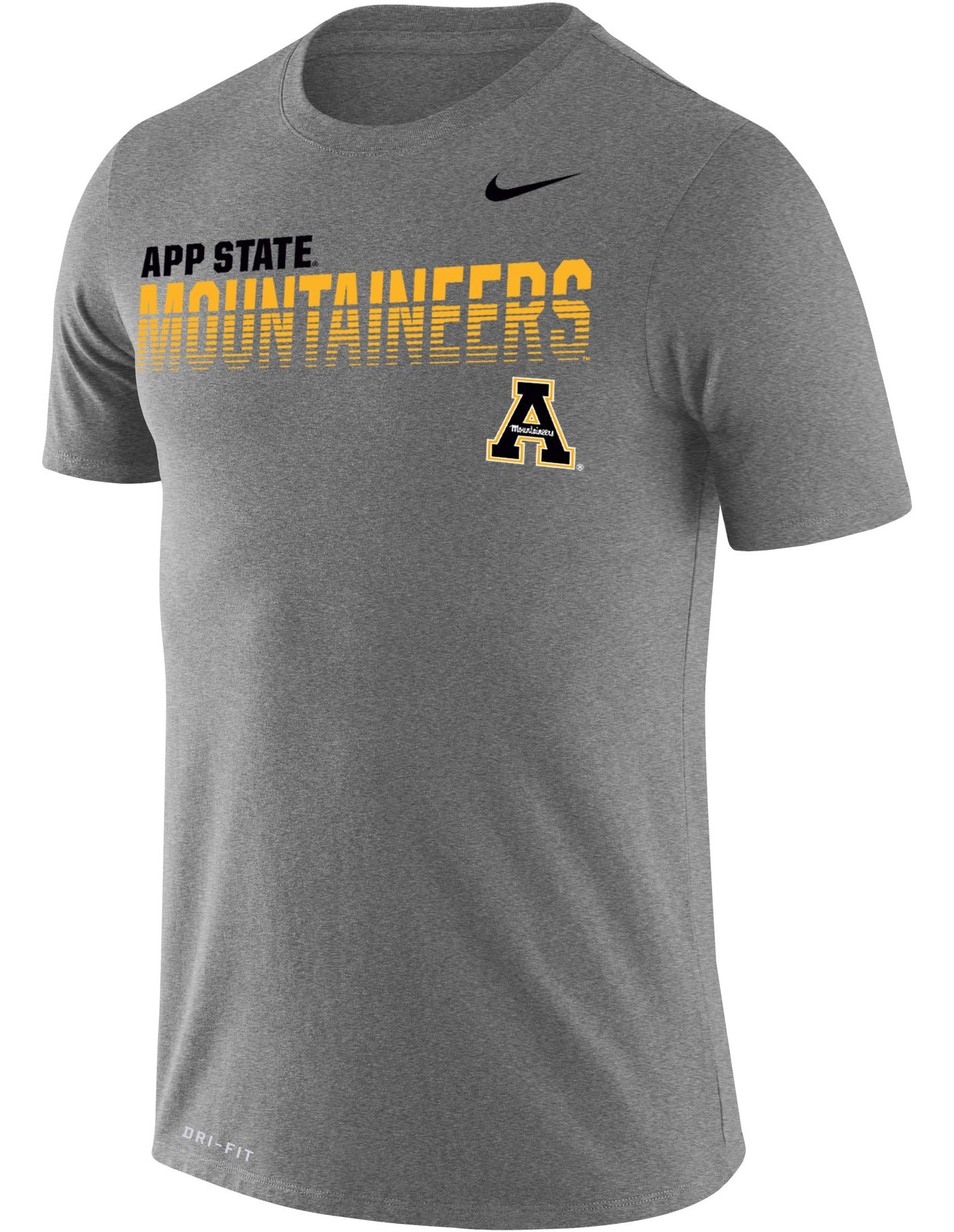 Nike Men's Appalachian State Mountaineers Grey Legend Football Sideline T-Shirt