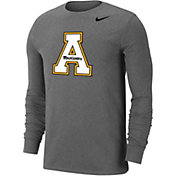 Nike Men's Appalachian State Mountaineers Grey Wordmark Long Sleeve T-Shirt
