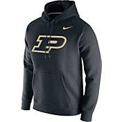 Nike Men's Purdue Boilermakers Club Fleece Pullover Black Hoodie