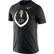Nike Men's Purdue Boilermakers Dri-FIT Cotton Football Icon Black T-Shirt