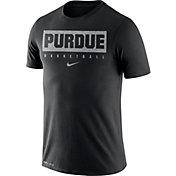 Nike Men's Purdue Boilermakers Basketball Legend Practice Black T-Shirt