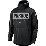 Nike Men's Purdue Boilermakers Spotlight Pullover Basketball Black Hoodie