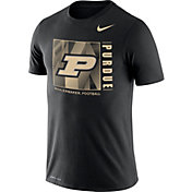 Nike Men's Purdue Boilermakers Team Issue Logo Football Black T-Shirt