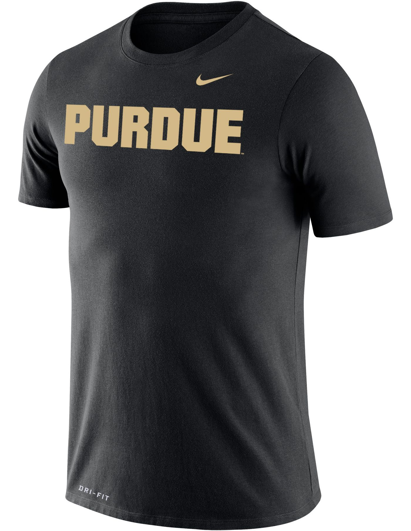 Nike Men's Purdue Boilermakers Dri-FIT Cotton Word Black T-Shirt