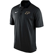 Nike Men's Purdue Boilermakers Stadium Striped Black Polo