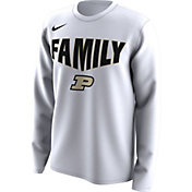 Nike Men's Purdue Boilermakers 'Family' Bench Long Sleeve White T-Shirt