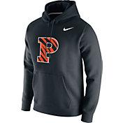 Nike Men's Princeton Tigers Club Fleece Pullover Black Hoodie