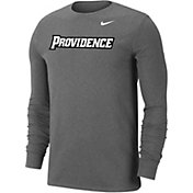 Nike Men's Providence Friars Grey Wordmark Long Sleeve T-Shirt