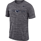 Nike Men's Penn State Nittany Lions Grey Velocity Football T-Shirt