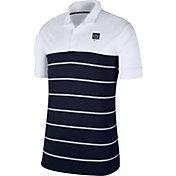 Nike Men's Penn State Nittany Lions White/Blue Striped Polo