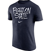 Nike Men's Penn State Nittany Lions Blue 'Fight On State' Tri-Blend Verbiage T-Shirt