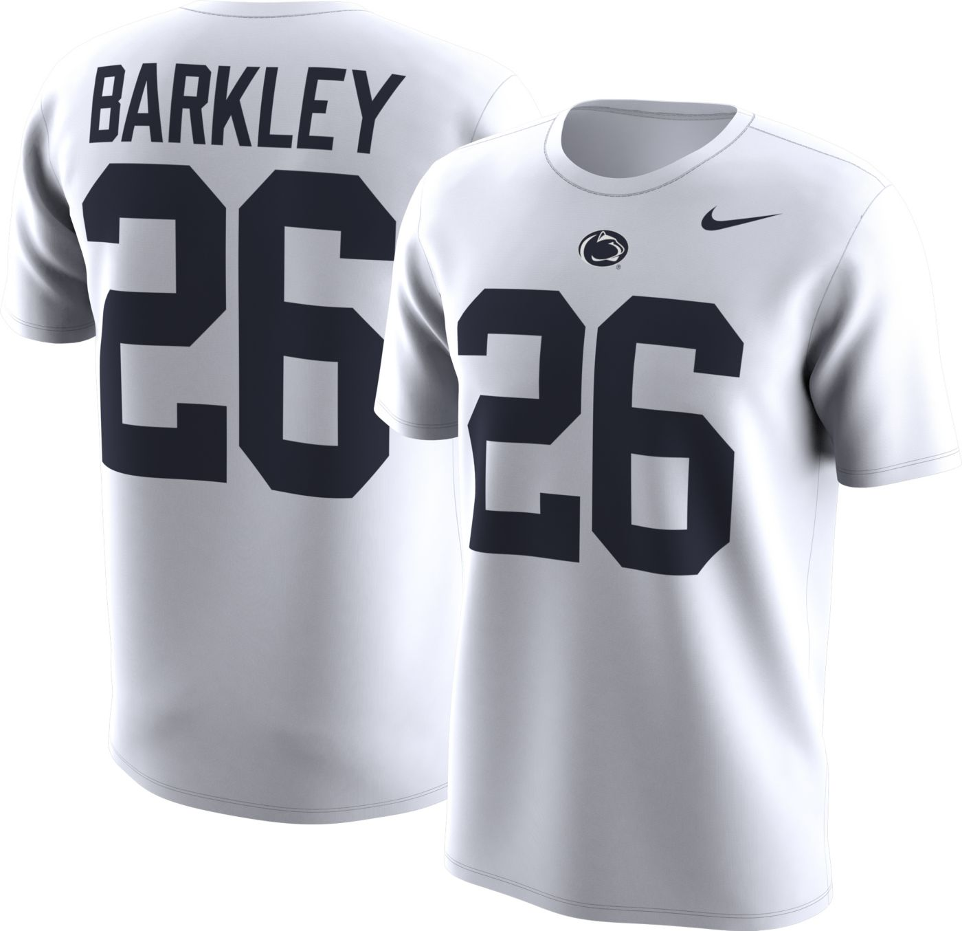 Nike Men's Penn State Nittany Lions Saquon Barkley #26 Football Jersey White T-Shirt
