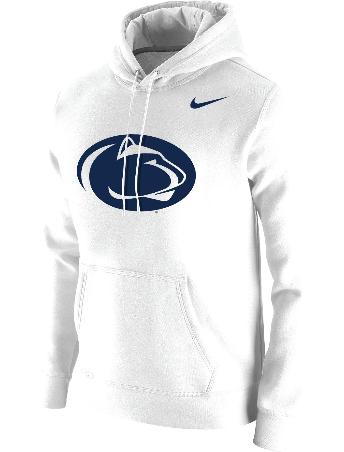 Nike Men's Penn State Nittany Lions Club Fleece Pullover White Hoodie