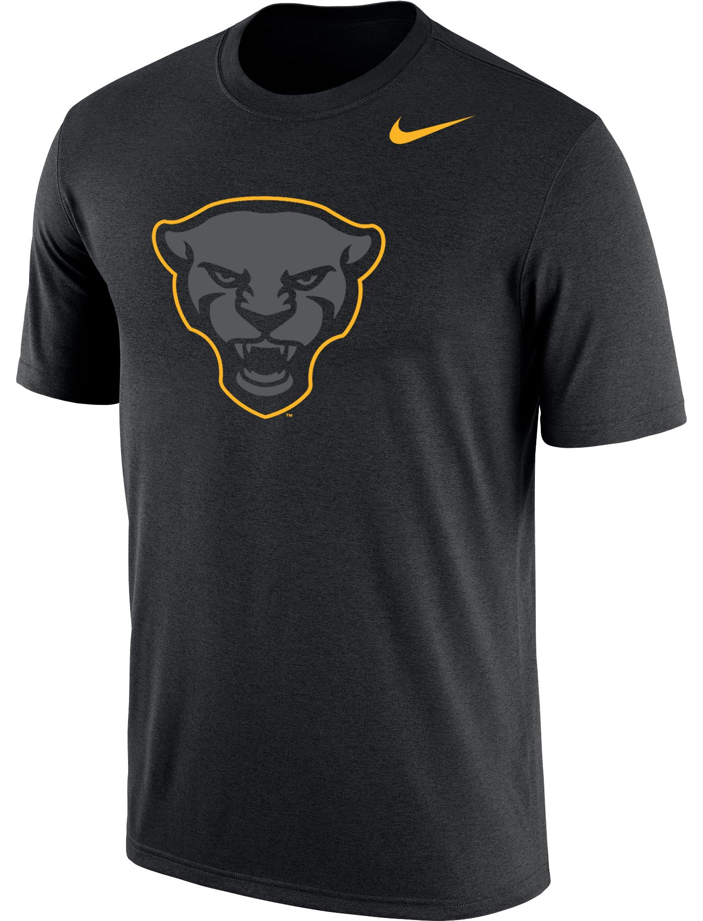 Nike Men's Pitt Panthers Panther Head Logo Dri-FIT Cotton Black T-Shirt